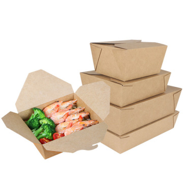 High quality printed disposable kraft paper box