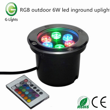 RGB outdoor 6W led inground uplight
