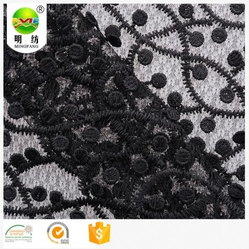 100% cotton chemical lace embroidery fabric