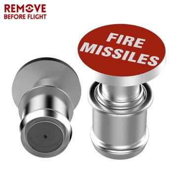 Car Cigarette Lighter FIRE MISSILE Button 12V Metal Universal Auto Car Cigarette Lighter for Automotive Vehicles