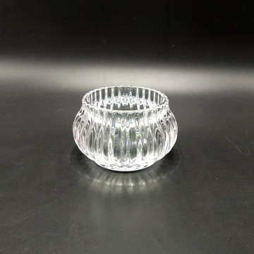 Hand Made Mini Crystal Glass Candle Holder
