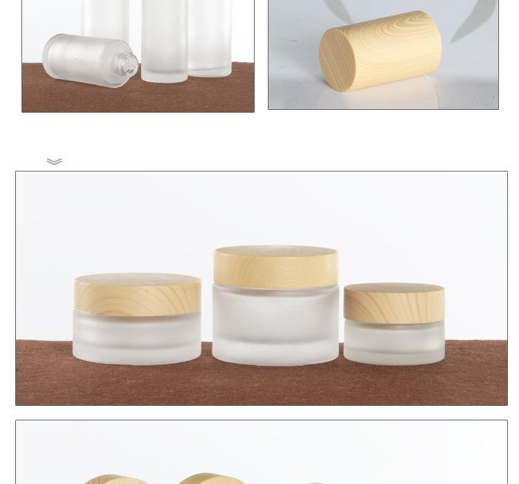 Wood grain cosmetic glass bottles are unpacked (3)