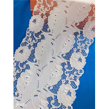 New Lace Designs Spandex Nylon Stretch Lace Trim