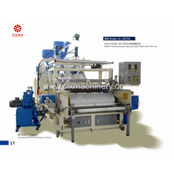 Three Layer 1000mm Lldpe Stretch Film Machinery
