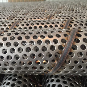 304 Stainless Steel Spiral Welded Pounched Filter Tube