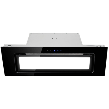 90cm Glass Canopy Cooker Hood - Black