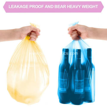 Colorful Clear Garbage Bags Extra Strong Rubbish Bags