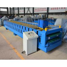 Lowest Price Roof Tiles Colored Steel Double Sheet Roll Forming Machine