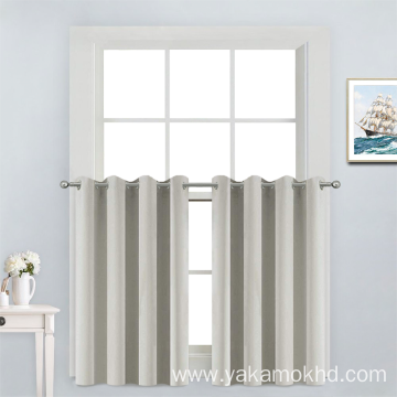 Cream Short Window Curtains