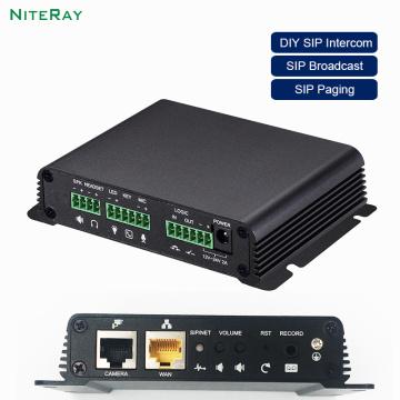 2020 Broadcasting DIY Paging system SIP Broadcast video Intercom VoIP Paging Gateway DIY IP Door Phone Gateway