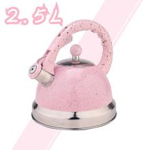 Pink Mirror Stainless Steel Whistling Tea Kettle
