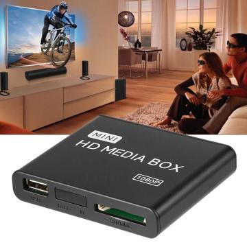 Mini Media Player 1080P Mini HDD Media Box TV box Video Multimedia Player Full HD With SD MMC Card Reader 100Mpbs EU Plug