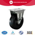Black Rubber Light Duty Rigid Industrial Caster