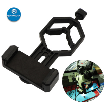 Cell Phone Adapter with Spring Clamp Mount for Stereo Microscope Accessories Video Adapter Telescope Mobile Phone Clip Bracket
