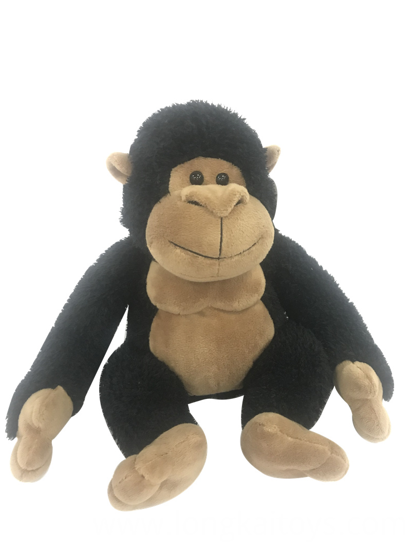 Black Stuffed Monkey Toy