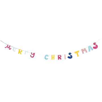 Christmas colourful bunting banner