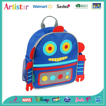 Robot modelling school backpack