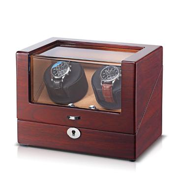 2 Slots Mechanical Display Wooden Watch winder