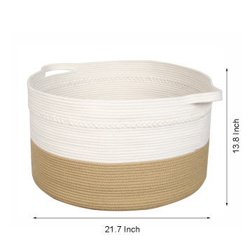 Langlebig mit Low Price Basket Round Jute Rope Small Storage Baskets Organizer