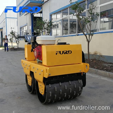 Sheep foot walk behind double drum vibratory roller (FYL-GS600)