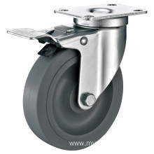 4inch Swivel High Quality Medium Duty TPR Castors With Top Brake