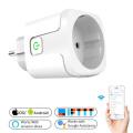 Smart Plug WiFi Socket EU 16A 100-240V Power Monitor Timing Function Tuya SmartLife APP Control Work With Alexa Google Assistant