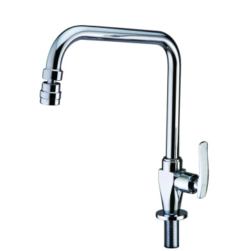 Kitchen sink tap cold water only rotatable spout