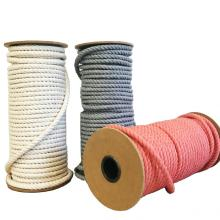 support customized 3 strand twist cotton rope