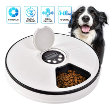 Timed Feed 6 Meal Trays Pet Feeder