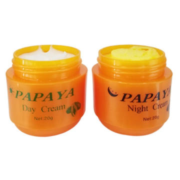 20g Day and Night Cream Set Papaya Whitening Anti Freckle Improve Dark Skin Lightening Face Skin Care Whitening Cream