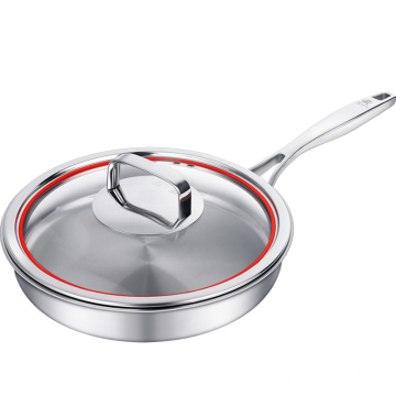 Fry Pan with Stainless Steel Handle