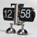 Cute Robot Mode Flip Clock With 2 Pedestals