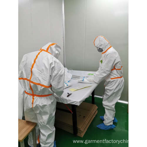 Disposable Civil Medical Isolation Hazmat Suit Coveralls
