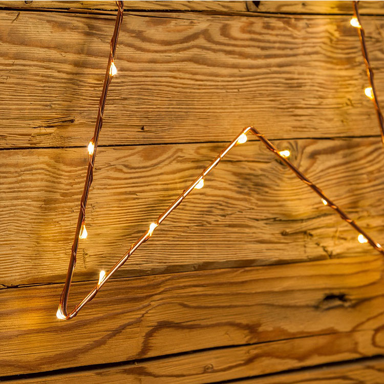 Star Led Metal Copper Wire Light