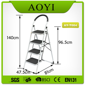 4 steps steel ladder