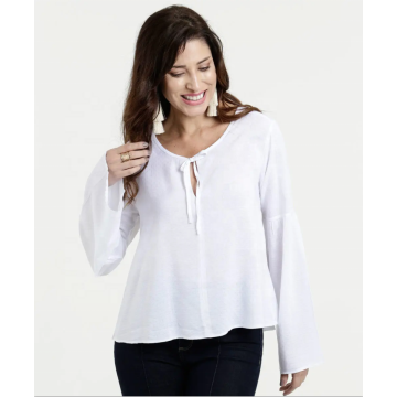 2020 Flare Long Sleeve Chiffon Blouse Women