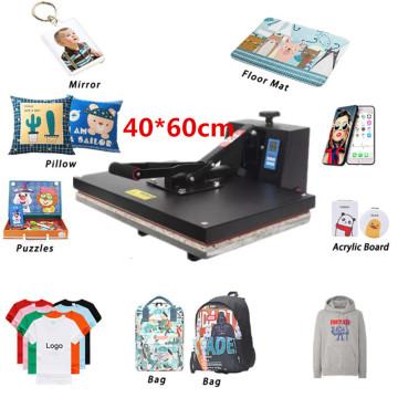 RB-YW460 High Pressure 40x60CM T-Shirt Printing Machine Sublimation Printer Heat Transfer Bag Case Puzzle Glass Wood Rock Photo