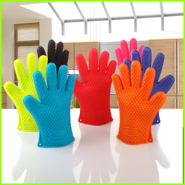Kitchen Heat Resistant Silicone Oven Mitt Gloves