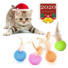 Cat Ball Toys with Feather