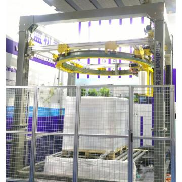 Orbital ring stretch wrapper high speed for pallet