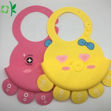 Soft Silicone Bibs With Food Catcher Pocket