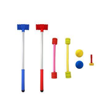 GIBBON Croquet Set for Kids Indoor Outdoor Foam