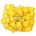 Yellow Sparkle Glass Mosaic Tile for DIY Craft