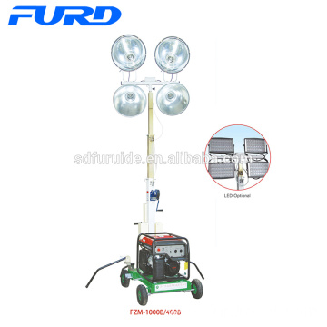 Small Portable Lighting Tower with Gasoline Generator (FZM-400A)