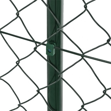 PVC coated iron wire chain link fence