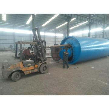 gas/oil heating system waste plastic pyrolysis machine
