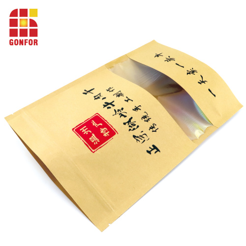 Custom Stand Up Pouch Paper Bags With Window