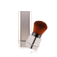 Travel Silver Gold Adjustable Blush Makeup Brushes