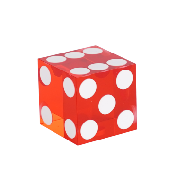 Red 19MM Translucent Casino Craps Dice
