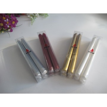 Metal Colour Taper Candle